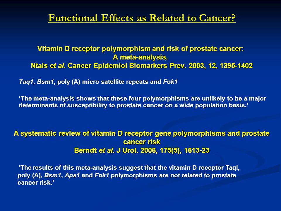 Functional Effects as Related to Cancer