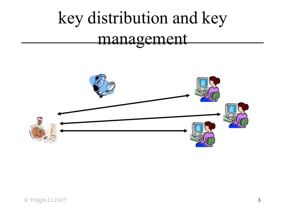 key distribution and key management
