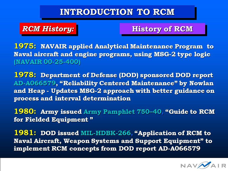 Unit I Module 1 - Introduction to RCM