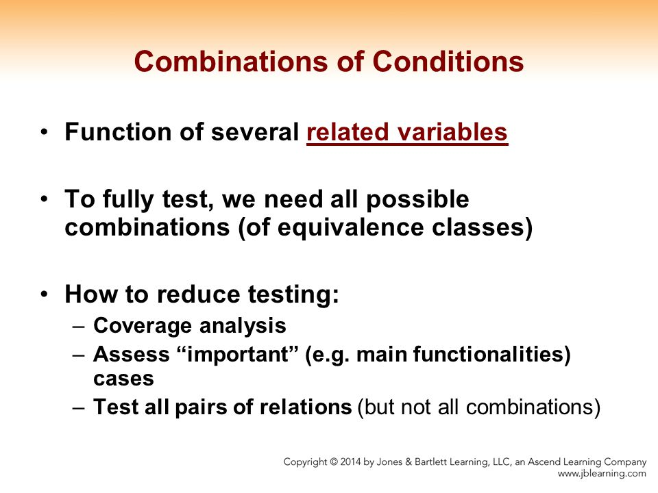 Combinations of Conditions