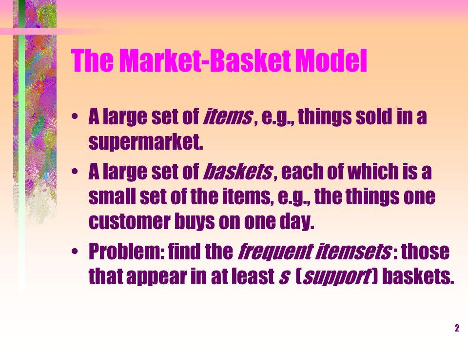The Market-Basket Model