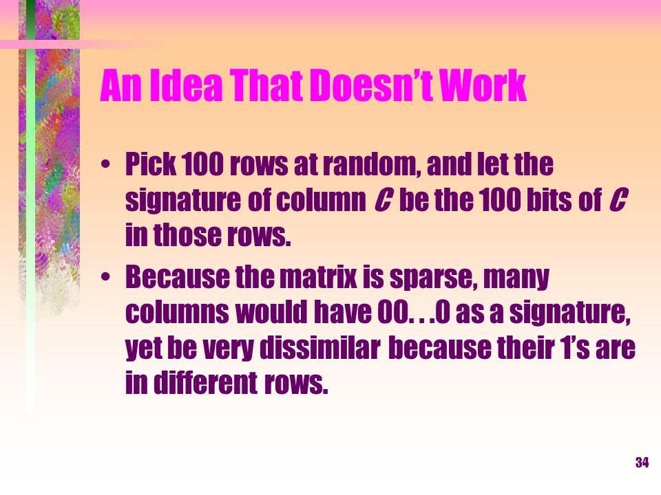 An Idea That Doesn't Work