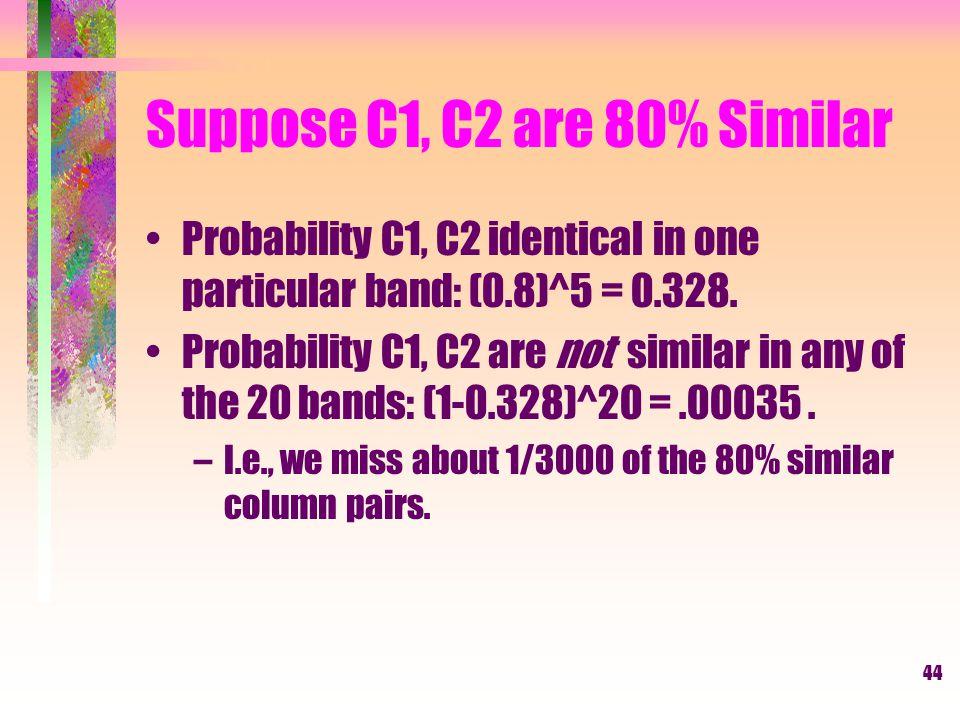 Suppose C1, C2 are 80% Similar