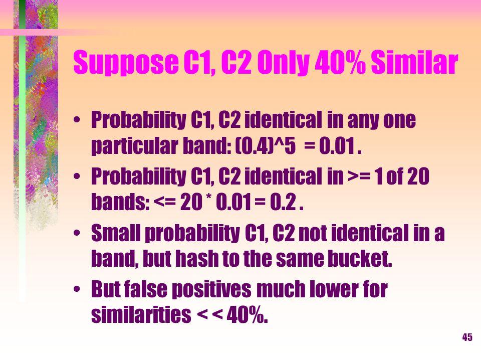Suppose C1, C2 Only 40% Similar