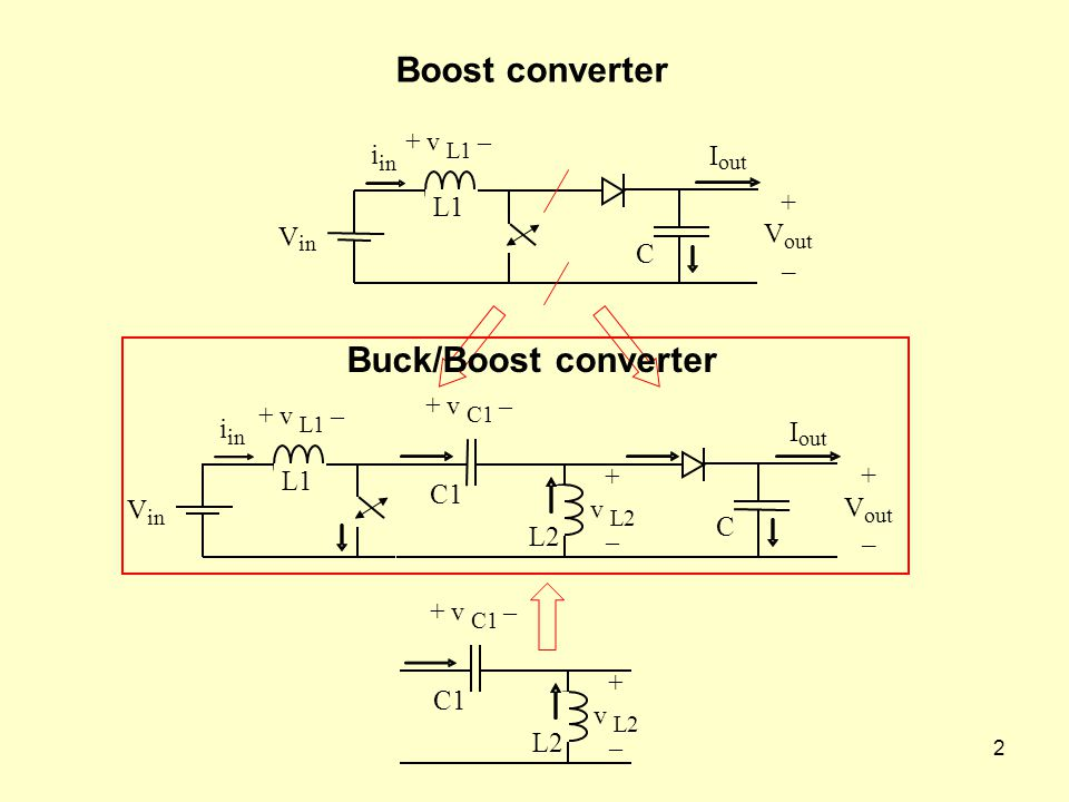 Boost converter Buck/Boost converter