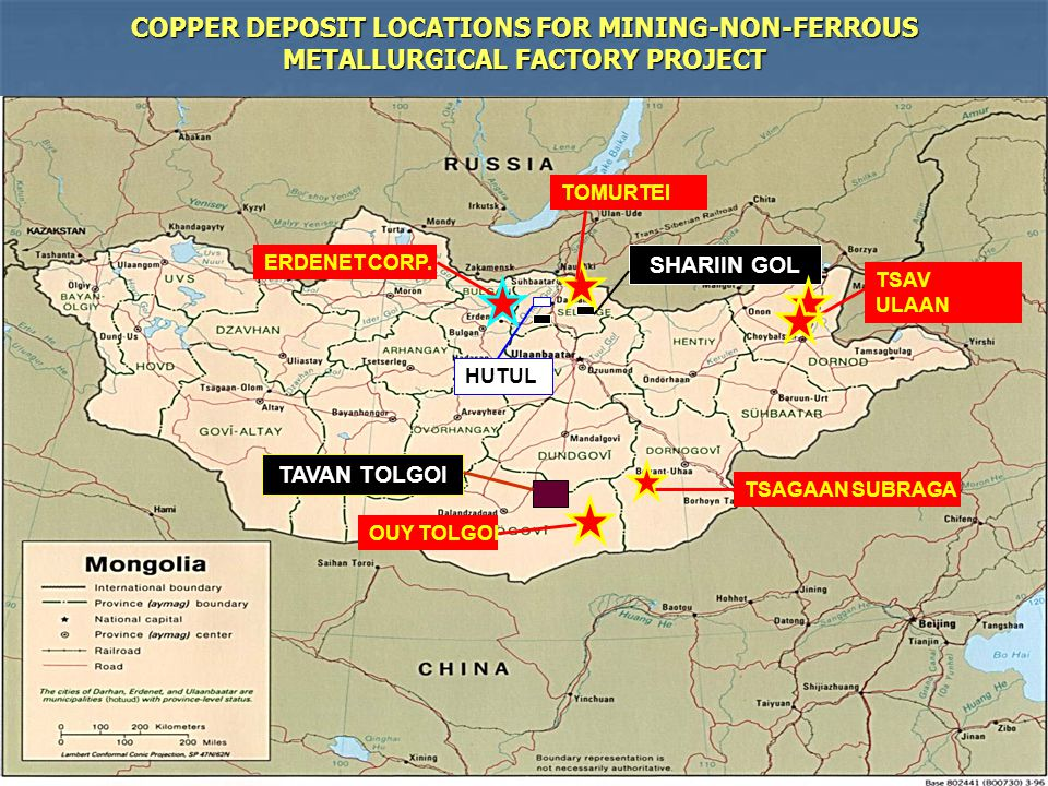 COPPER DEPOSIT LOCATIONS FOR MINING-NON-FERROUS METALLURGICAL FACTORY PROJECT