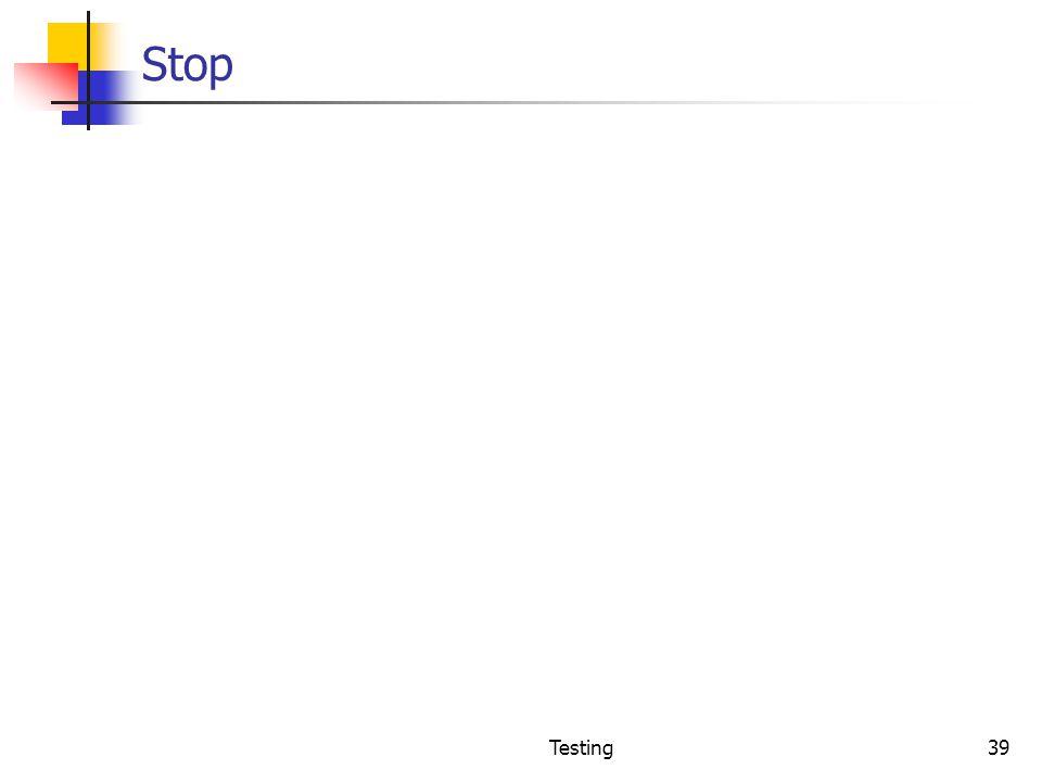 Stop Testing