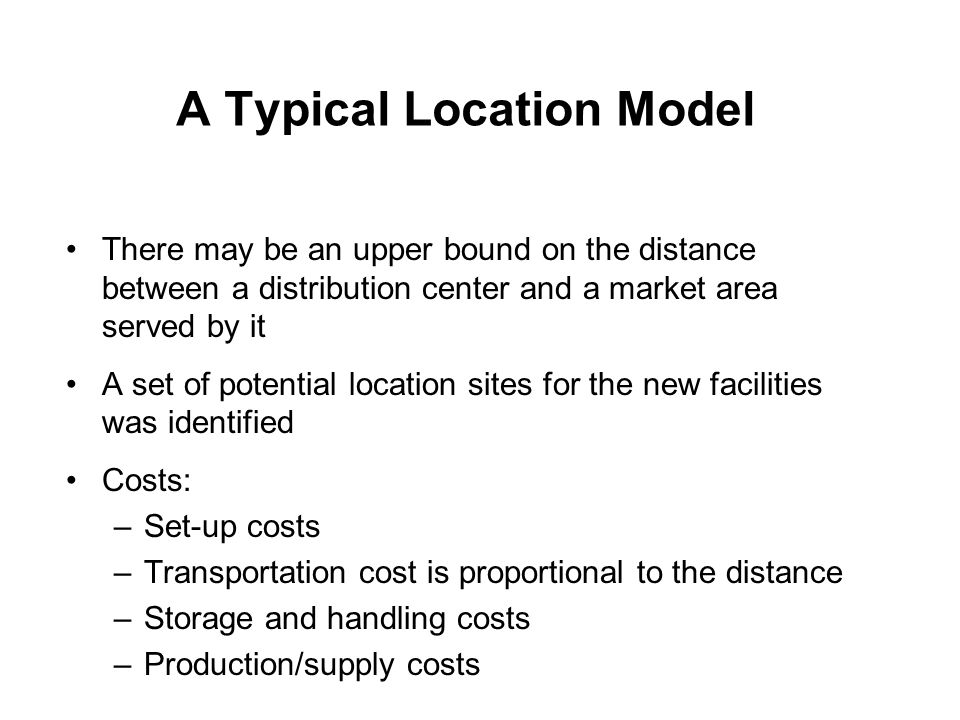 A Typical Location Model