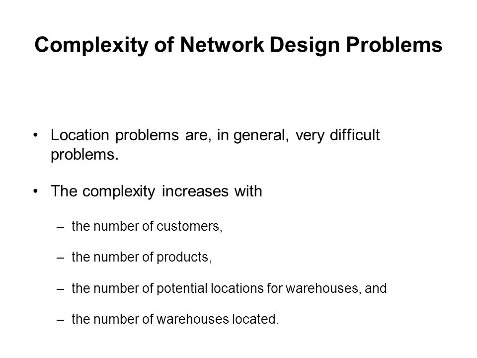 Complexity of Network Design Problems