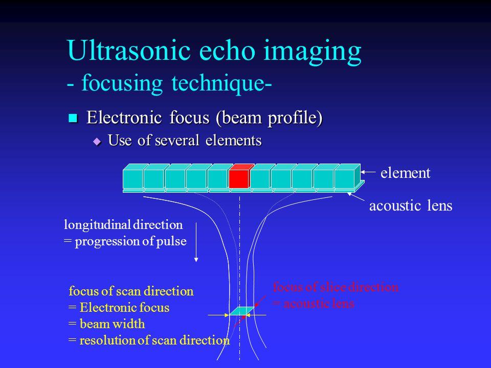 Ultrasonic echo imaging - focusing technique-