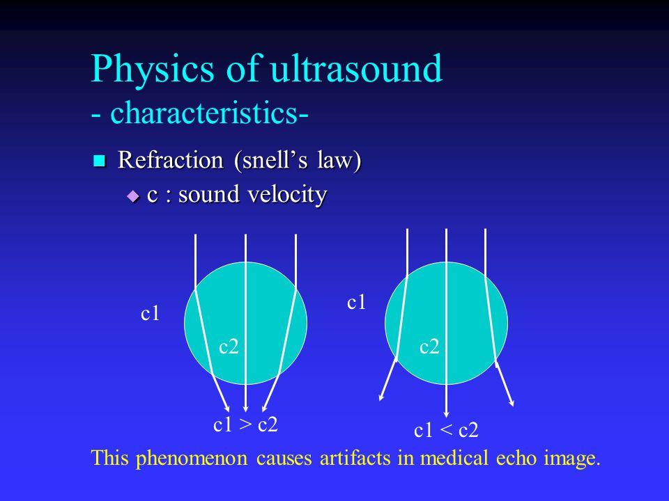 Physics of ultrasound - characteristics-