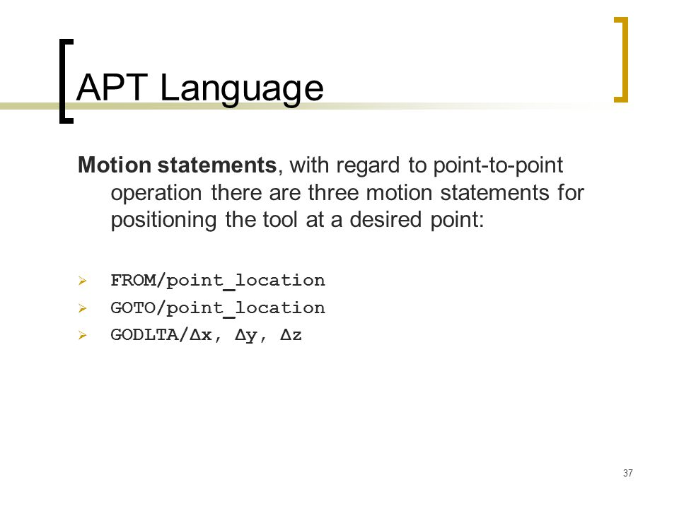 APT Language