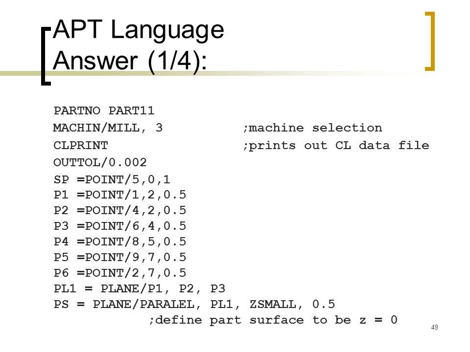 APT Language Answer (1/4):