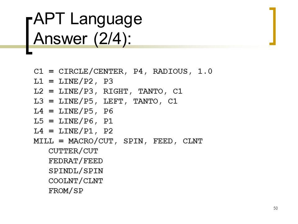 APT Language Answer (2/4):
