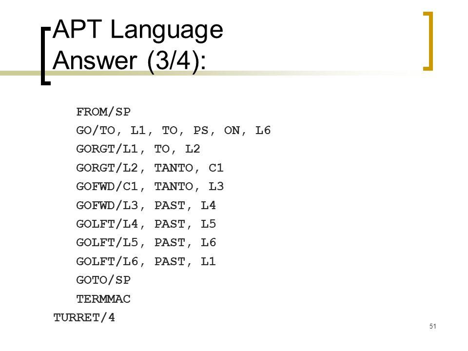 APT Language Answer (3/4):
