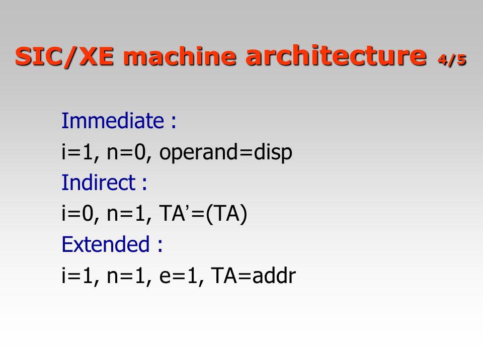 SIC/XE machine architecture 4/5