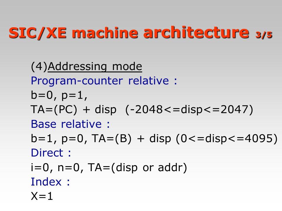 SIC/XE machine architecture 3/5