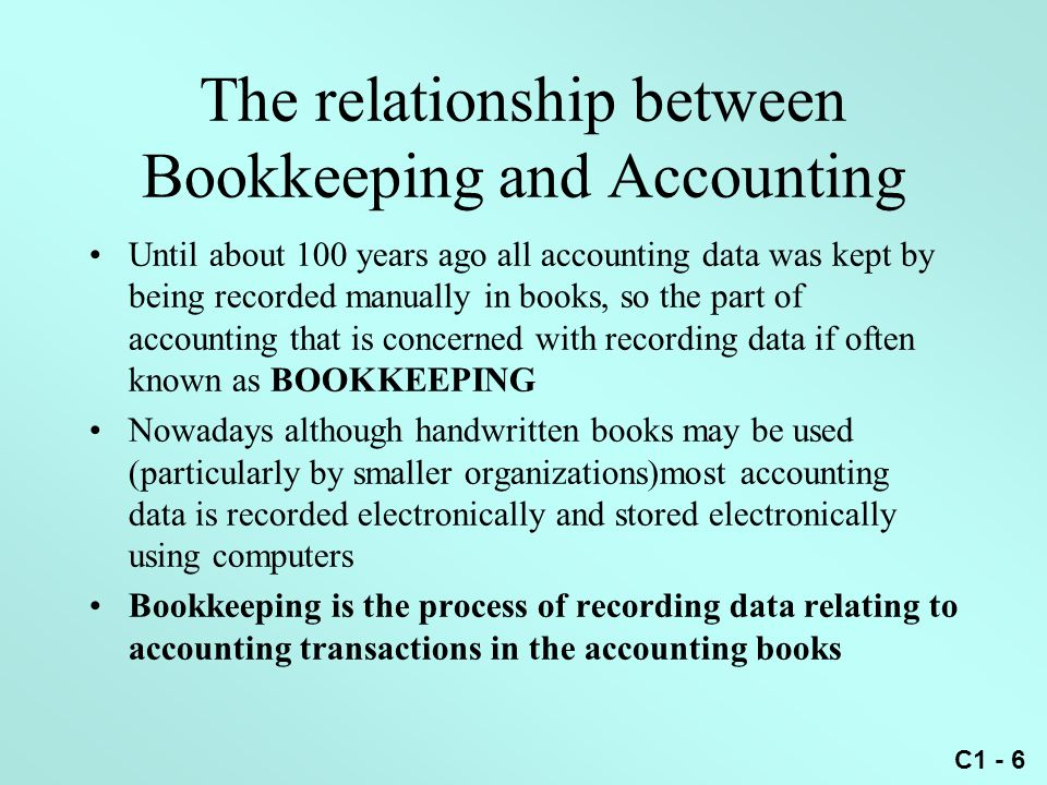 The relationship between Bookkeeping and Accounting