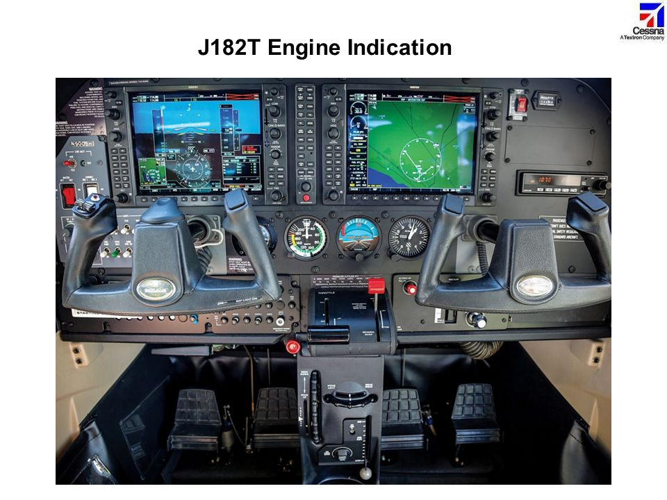 J182T Engine Indication The engine indicators are shown on the EIS (Engine Indication System) display portion of the MFD.