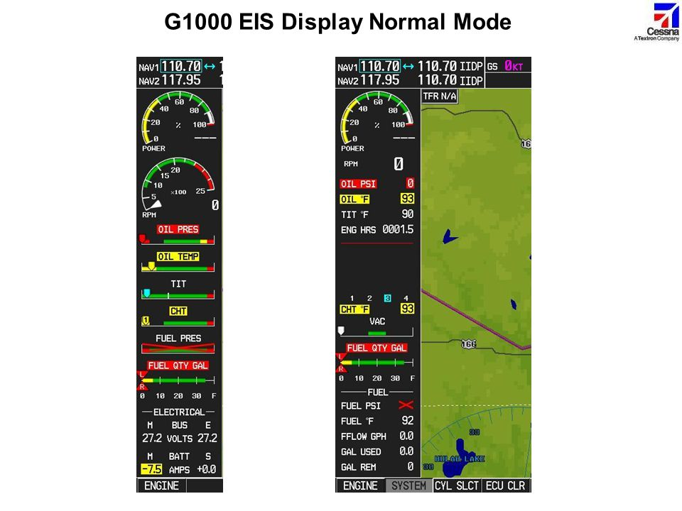 G1000 EIS Display Normal Mode