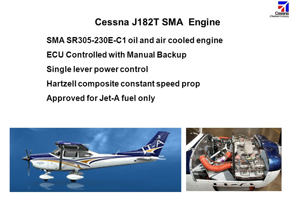 Cessna J182T SMA Engine SMA SR305-230E-C1 oil and air cooled engine