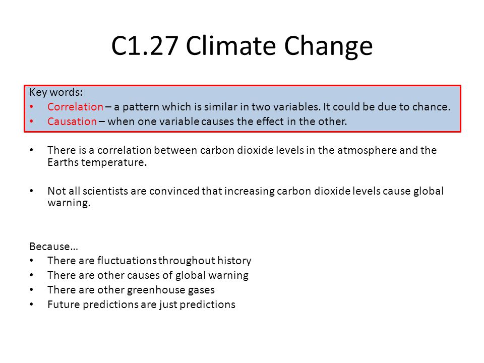 C1.27 Climate Change Key words: