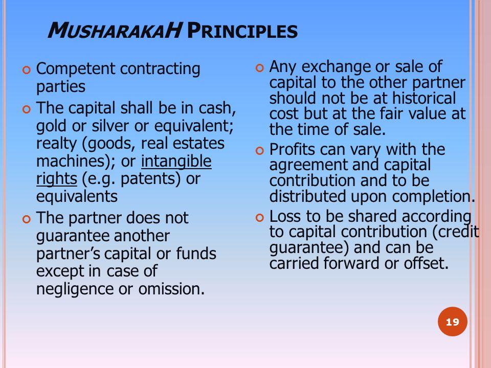 MusharakaH Principles