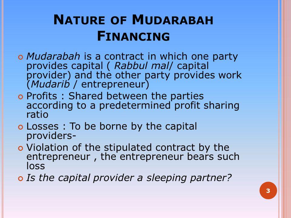 Nature of Mudarabah Financing
