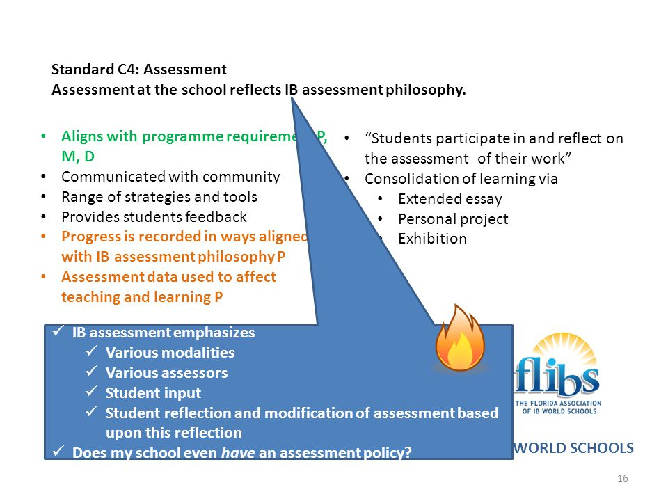 Standard C4: Assessment