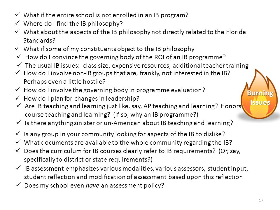 What if the entire school is not enrolled in an IB program