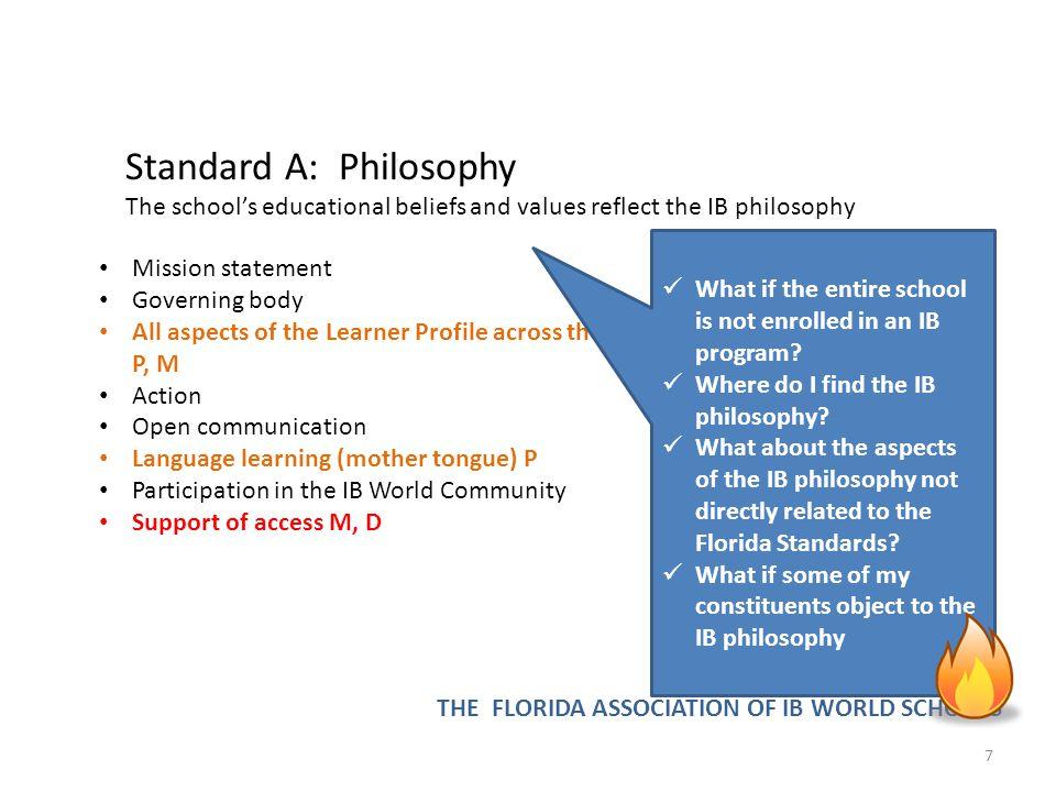 Standard A: Philosophy