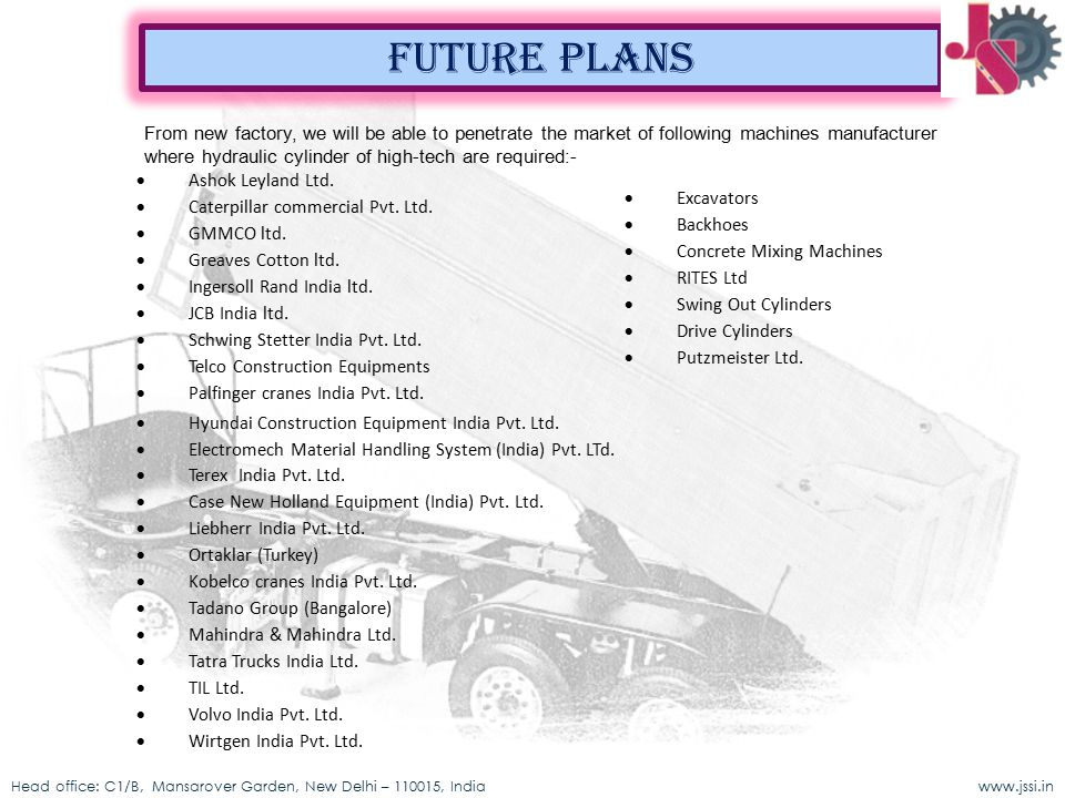 Future plans · Ashok Leyland Ltd. · Excavators