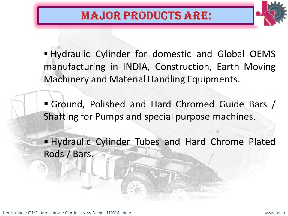 Major Products Are: