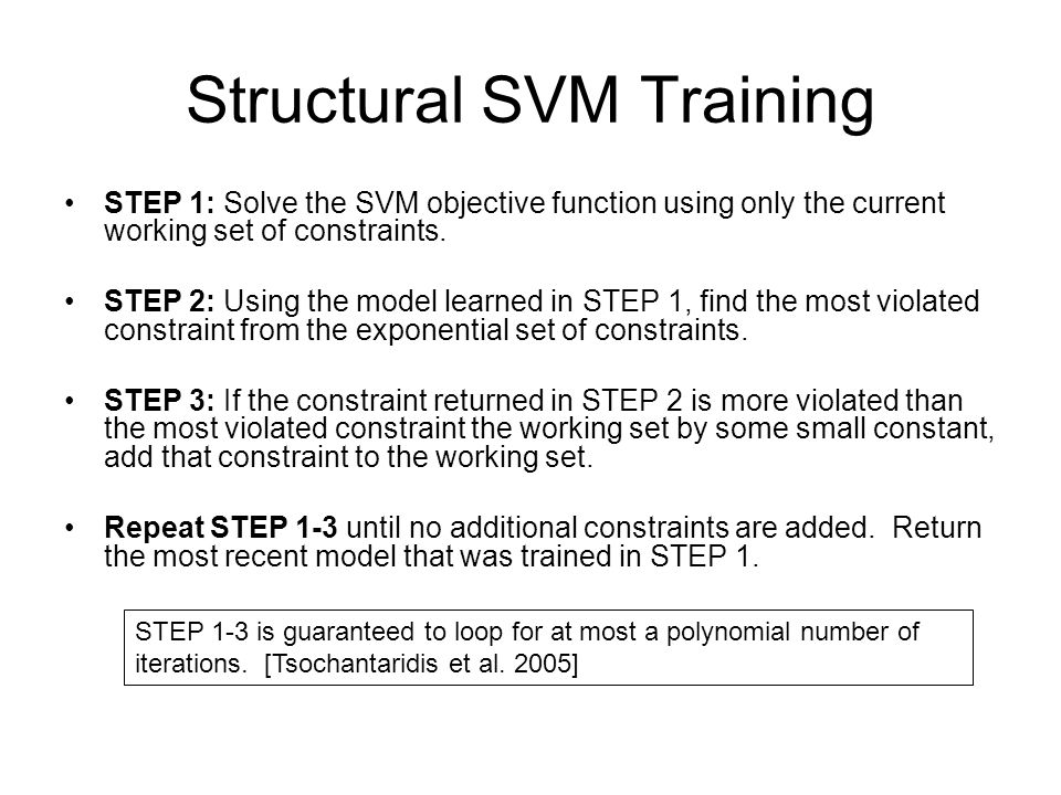 Structural SVM Training