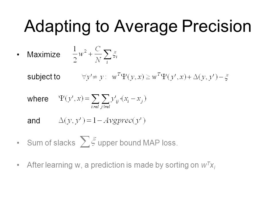 Adapting to Average Precision