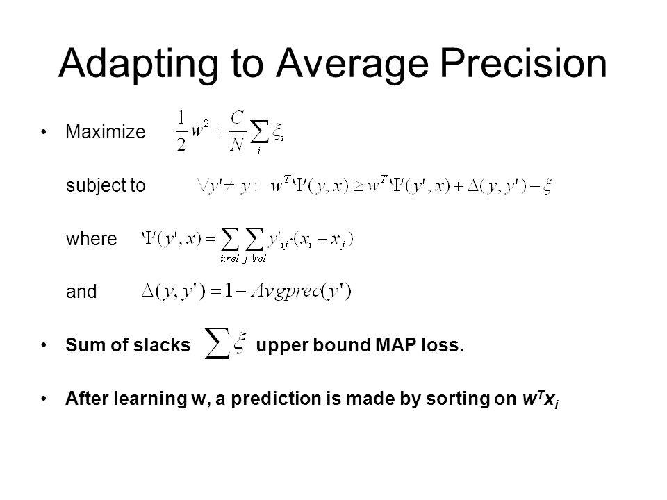 Adapting to Average Precision