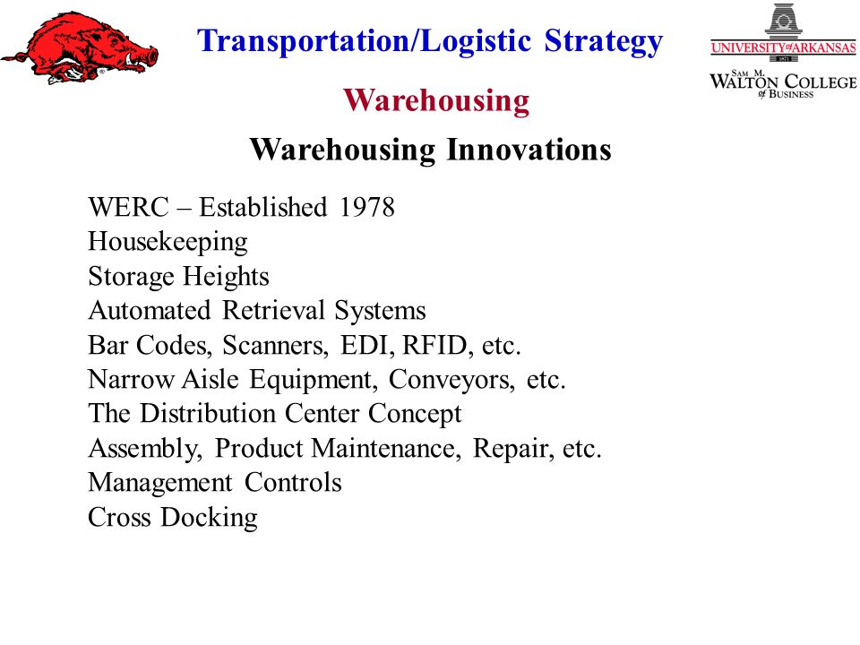Warehousing Innovations