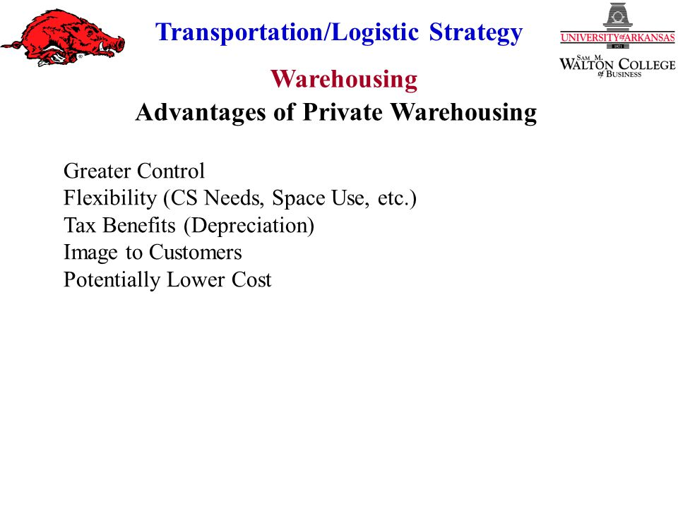 Advantages of Private Warehousing