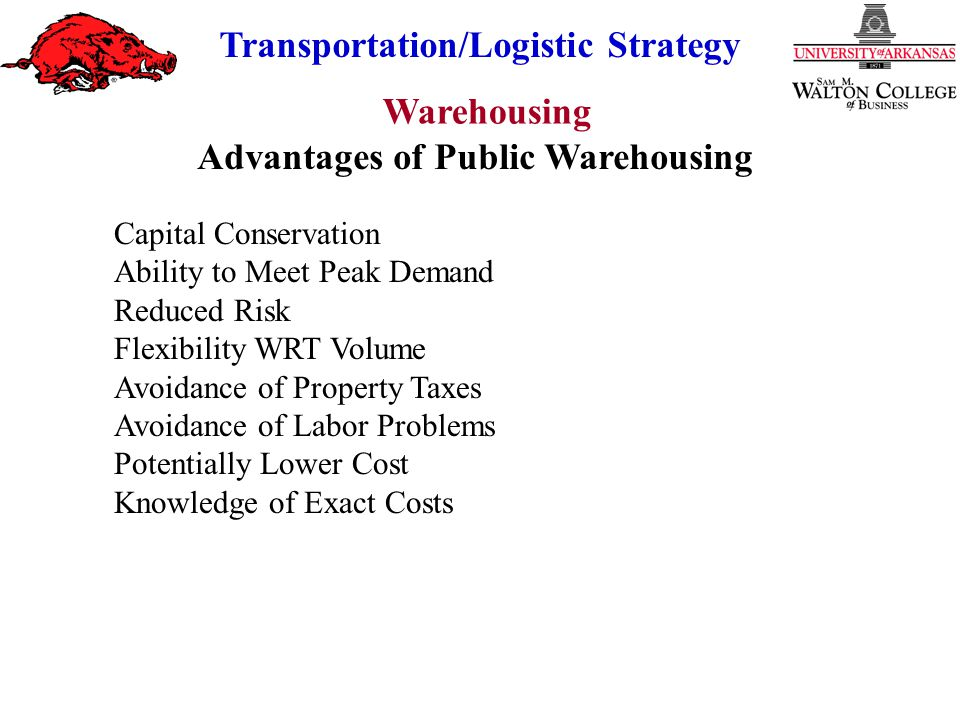 Advantages of Public Warehousing