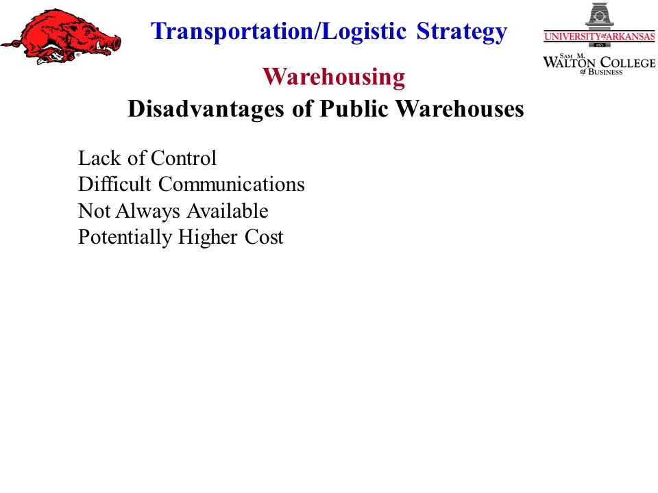Disadvantages of Public Warehouses