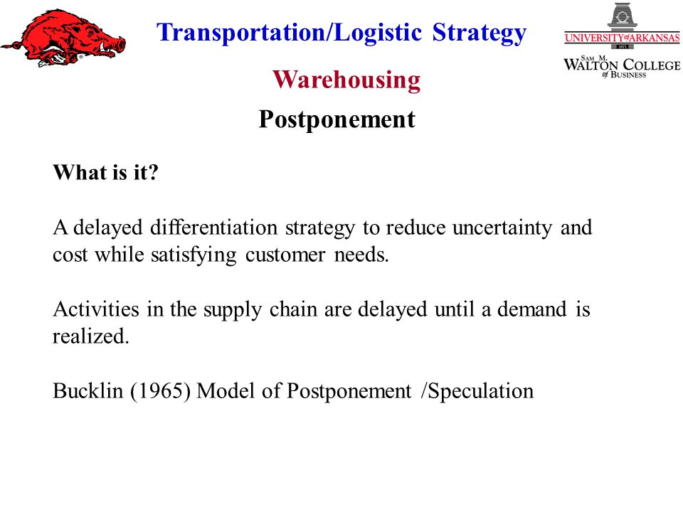 Postponement What is it