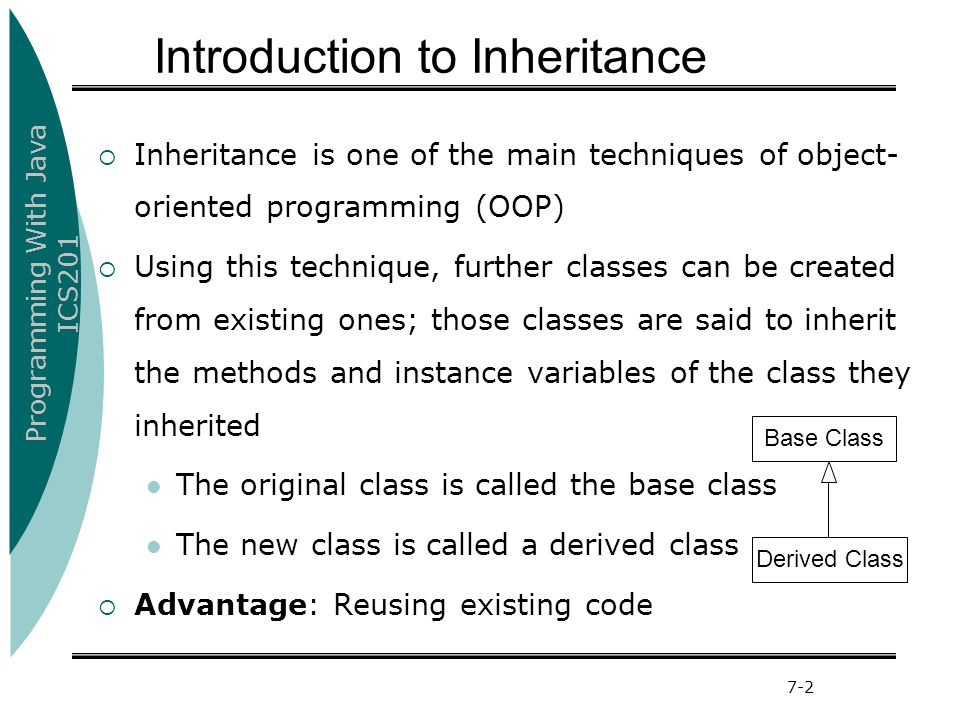 Introduction to Inheritance