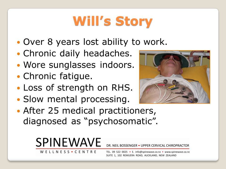 Will's Story Over 8 years lost ability to work.