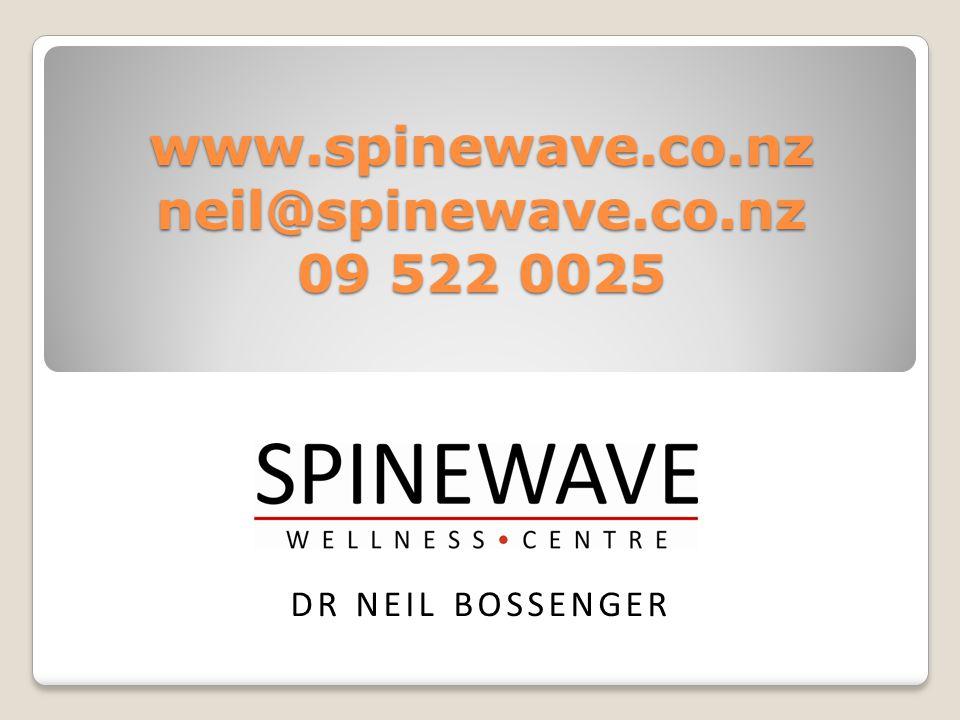 www.spinewave.co.nz neil@spinewave.co.nz 09 522 0025