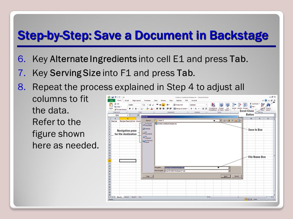 Step-by-Step: Save a Document in Backstage