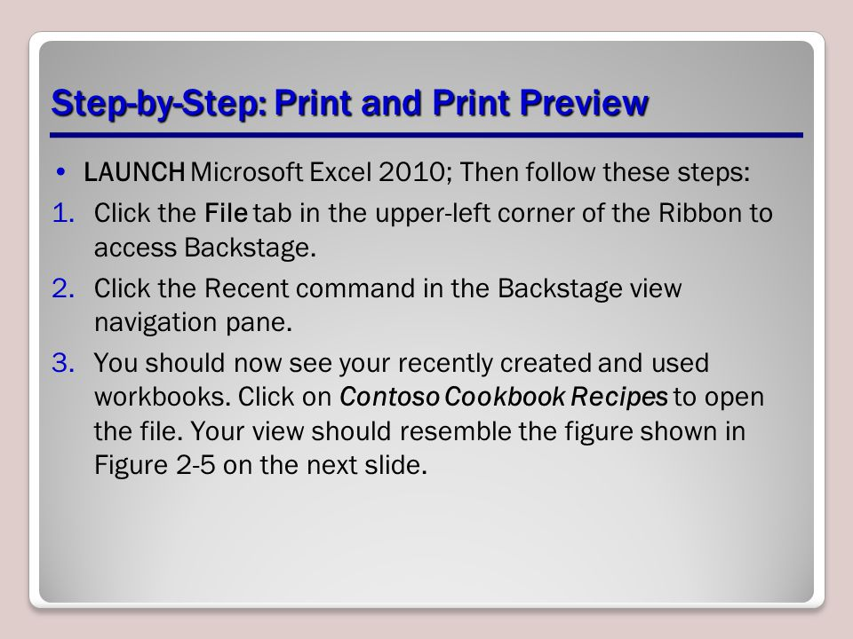 Step-by-Step: Print and Print Preview