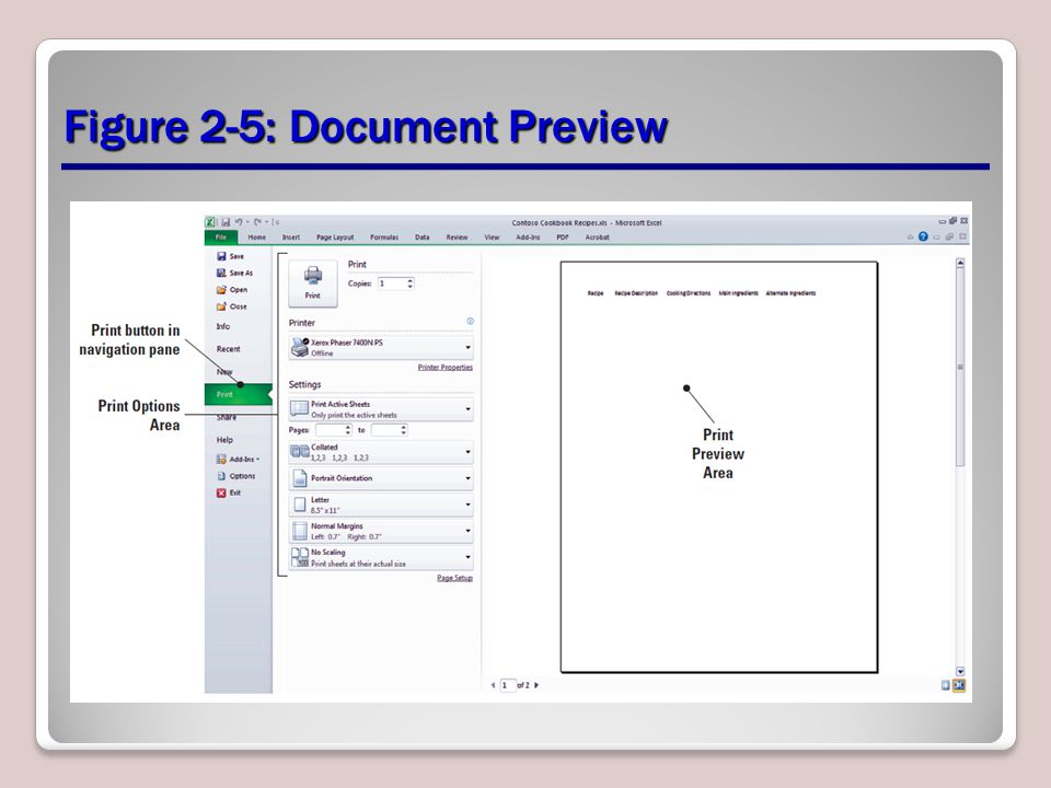 Figure 2-5: Document Preview