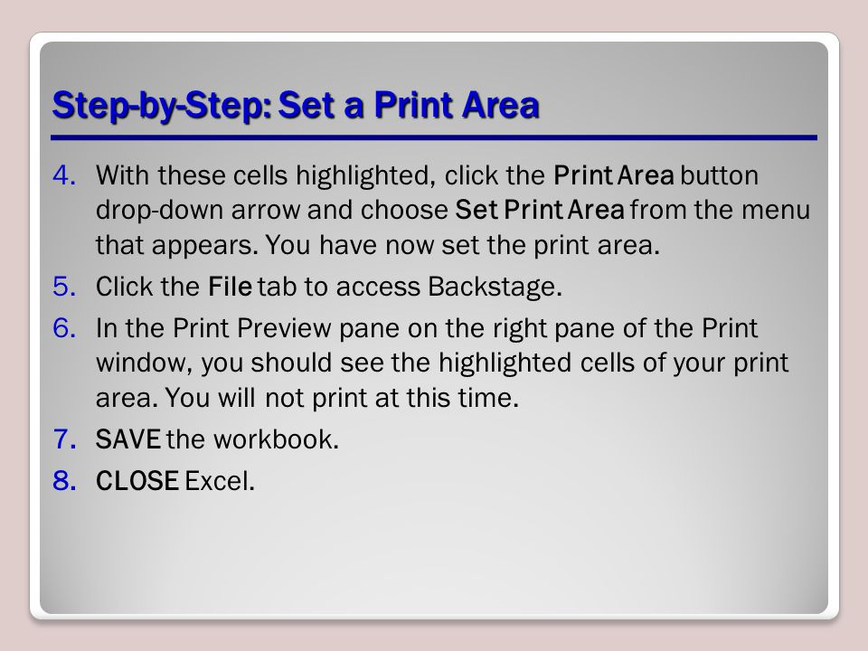 Step-by-Step: Set a Print Area