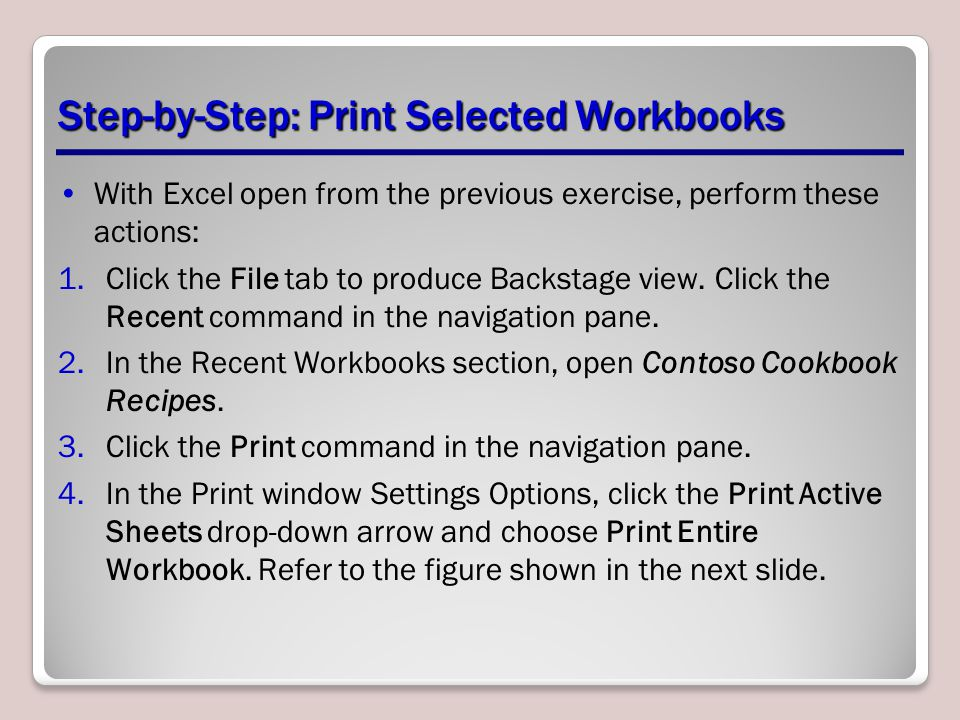 Step-by-Step: Print Selected Workbooks