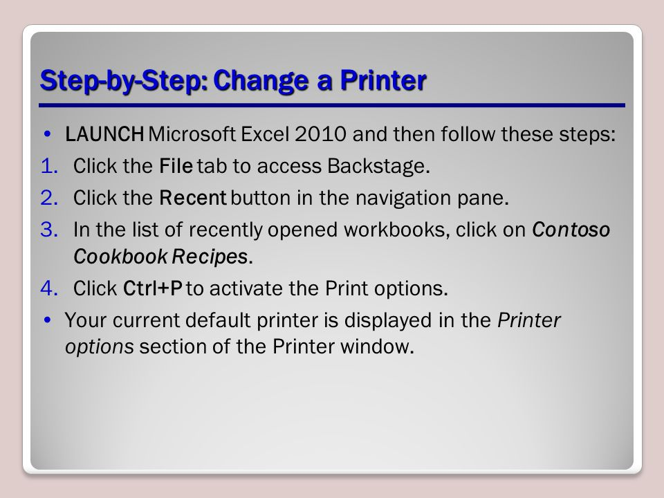 Step-by-Step: Change a Printer